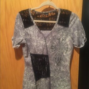 Daytrip Short Sleeved Shirt With Lace